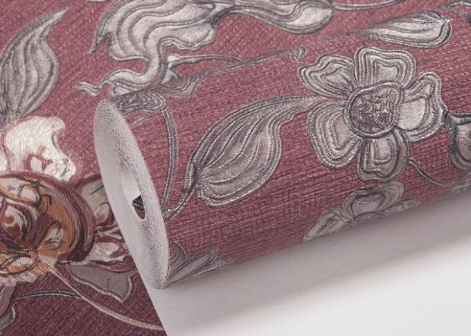 papier peint inspir asiatique imperm able avec le mod le floral de relief petit pain. Black Bedroom Furniture Sets. Home Design Ideas