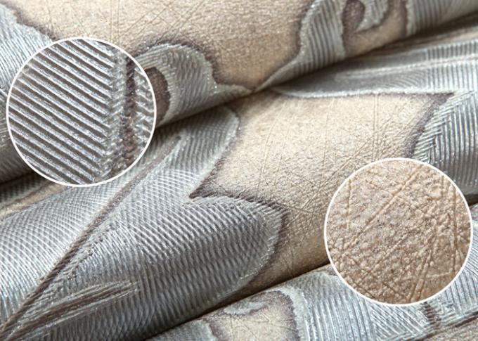 papier peint victorien gris clair de damass imperm able. Black Bedroom Furniture Sets. Home Design Ideas