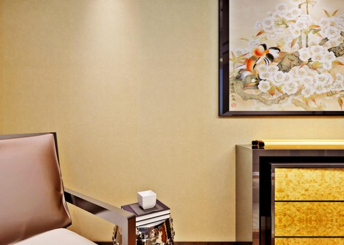 papier peint d montable moderne lumineux simple beige pour. Black Bedroom Furniture Sets. Home Design Ideas