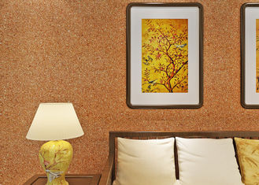 revêtement mural de mica de 0.53*10m/non - couleur moderne tissée de jaune de papier peint de salon