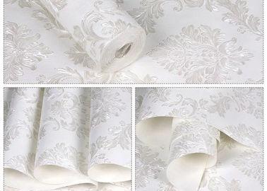 Floral aucun revêtements muraux démontables de papier peint auto-adhésif blanc de colle