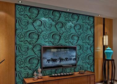 Revêtement mural Wallpaper/3D insonorisé de luxe de troupeau de velours avec la taille de 0.7*10M, écologique