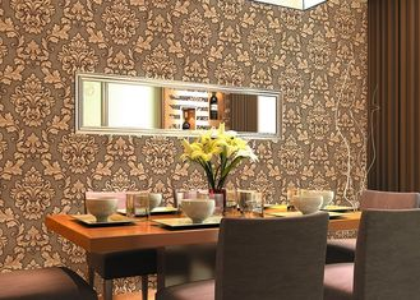 papier peint floral de relief par prix bon marché de 0.53*10m pour la décoration à la maison, GV CSA énuméré