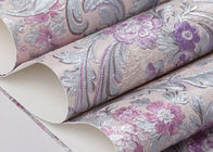 Beautiful Floral Pattern Country Style Wallpaper Embossed for Bedroom 0.53*10M