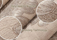 Beige Floral Pattern PVC Modern Wallpapers for Bedrooms with Embossed Surface