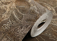 Waterproof Blown Vinyl Wallpaper Patterns , Eco - friendly Embossed Wall Covering