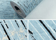 Soundproof Contemporary Wall Covering Durable With Sky Blue Color , Non Woven Materials