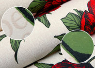 Red Non Woven Vintage Style Floral Wallpaper For Room Decoration , Eco - Friendly