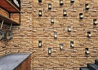 Removable PVC 3D Brick Effect Wallpaper / Brick Effect Wall Coverings , Affordable