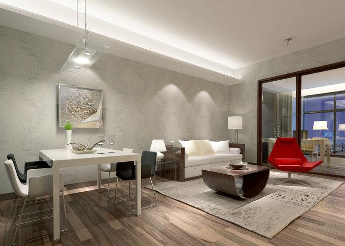 papier peint blanc argent tanche l 39 humidit de mod le de feuille pour le salon. Black Bedroom Furniture Sets. Home Design Ideas