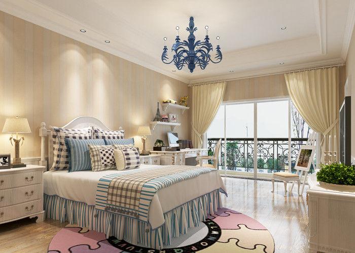 papier peint beige de chambre à coucher d'enfant de modèle de ... - Chambre A Coucher Avec Papier Peint