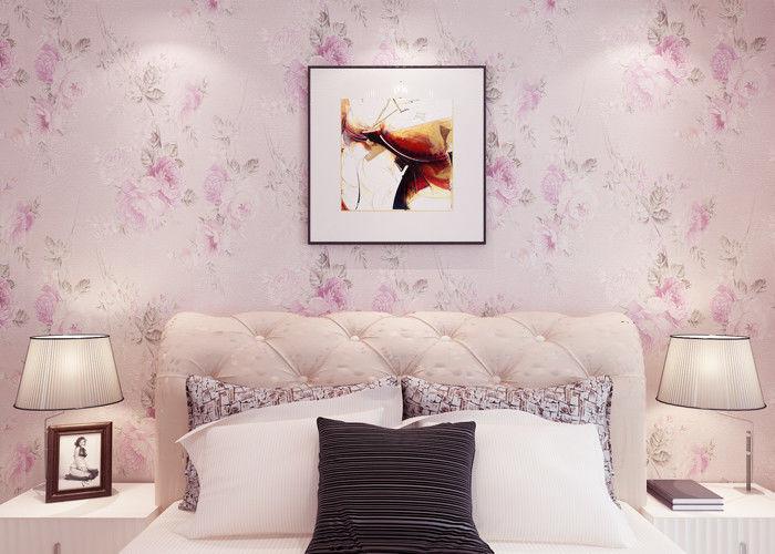 Papier peint floral rustique roseclair romantique de