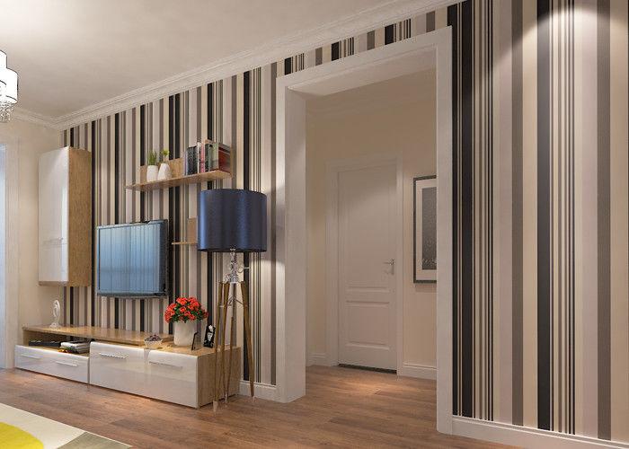 rev tements muraux contemporains commerciaux avec les rayures larges et troites papier peint. Black Bedroom Furniture Sets. Home Design Ideas