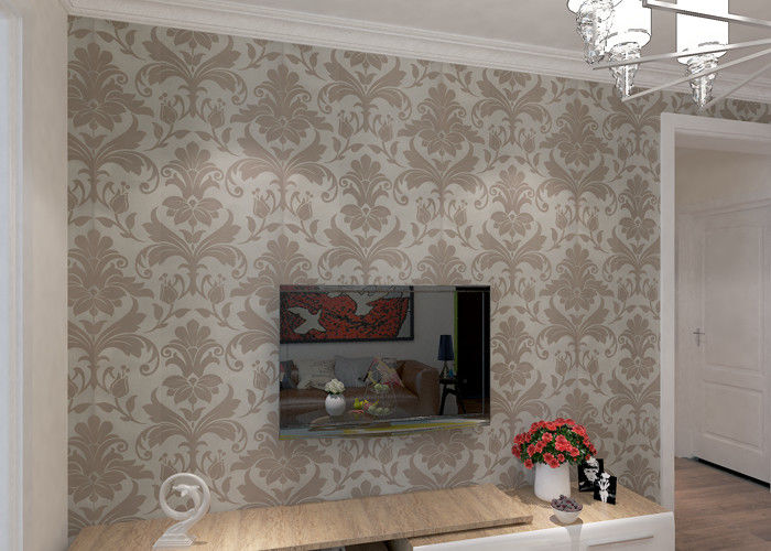 Non- woven Modern Classic Floral Wallpaper for Home Decoration 0.53*10m