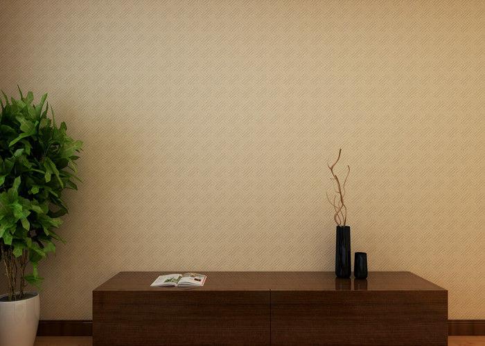 Papier Peint Demontable Moderne De Modele Geometrique Beige Pour Le