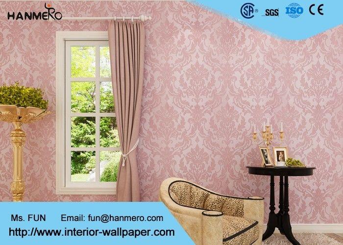 Flocage du papier peint européen de style de modèle floral rose ...