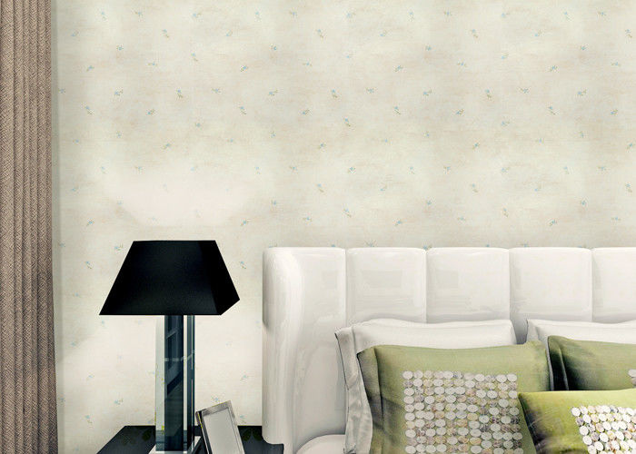 Non Woven Rustic Floral Wallpaper With Printed Surface Technics , Asian Style