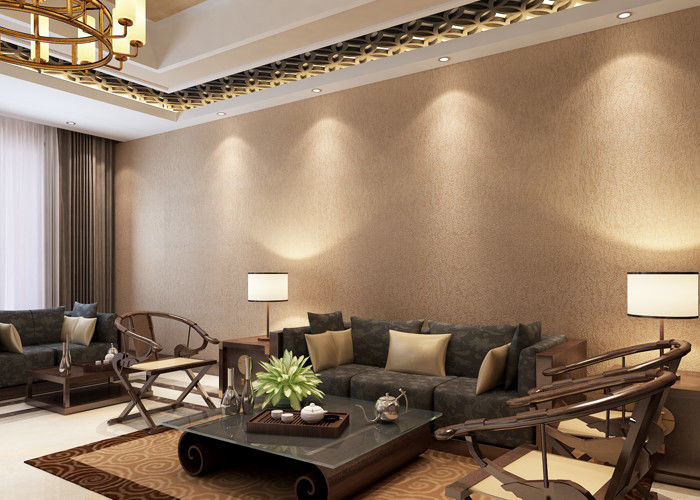 Embossed 3D Home Wallpaper , Contemporary Home Interior Wallpaper with Vinyl Coated Paper