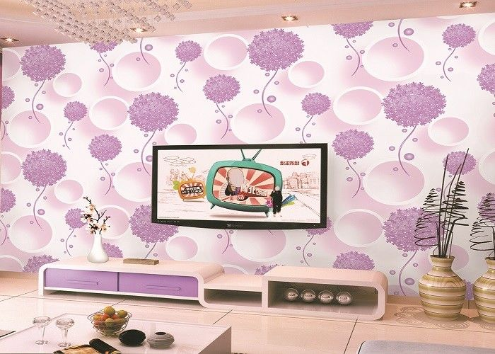 Heat Insulation Unisex Children's Bedroom Wallpaper For Decoration Floral Pattern