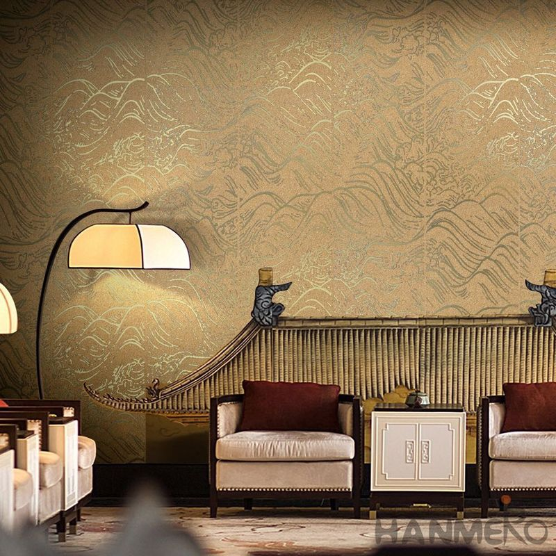 Nightclub Wallpaper Decoration Bronzing Plant Fiber Particle Golden Color