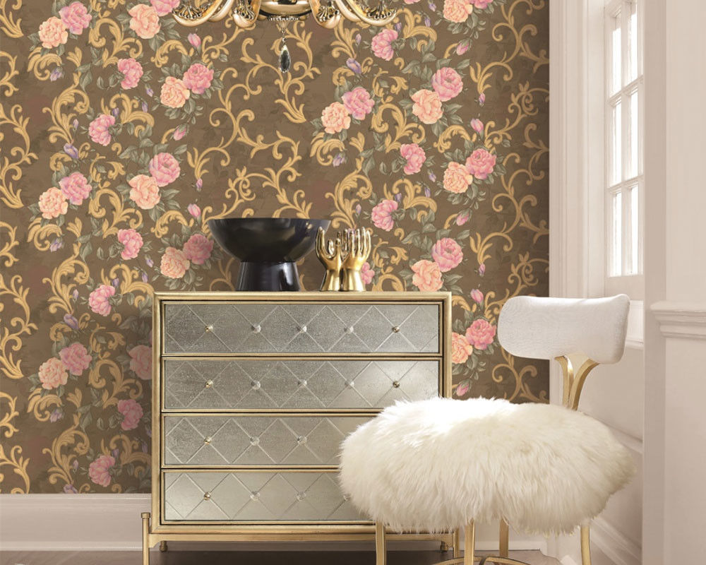 Strippable Home Decoration Wallcovering PVC Wallpaper Wholesale Price Beautiful Flower